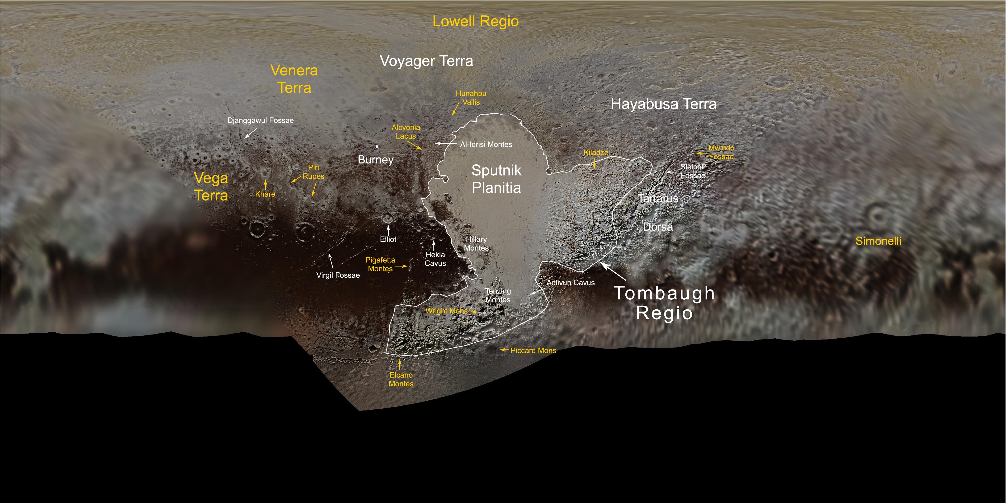New Horizons : survol de Pluton (2/2) - Page 7 PlutoFeaturesNomenclatureMap_color-01