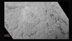 Portion of Pluto's Sputnik Planum (Sputnik Plain)