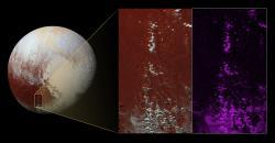 Methane Snow on Pluto's Peaks