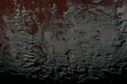 Pluto's Methane Snowcaps on the Edge of Darkness (non-annotated)