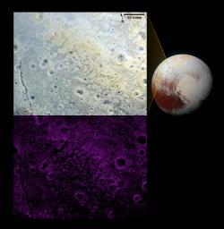 Pluto's 'Fretted' Terrain