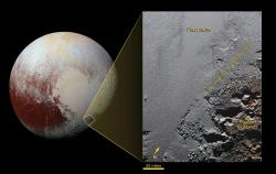 The Jagged Shores of Pluto's Highlands (Annotated)