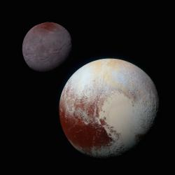 Charon and Pluto:  Strikingly Different Worlds