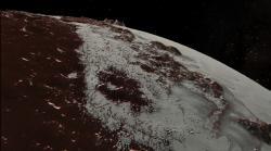 Soaring over Pluto