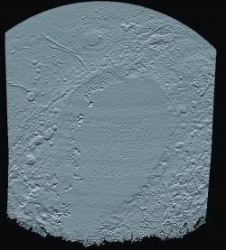 Elevation Map of Pluto's Sunken 'Heart'
