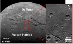 "Craters and Geology of Charon's ""Vulcan Planitia"""