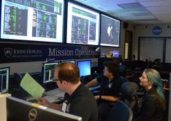 New Horizons Mission Operations Center Following a Successful Trajectory Correction Maneuver