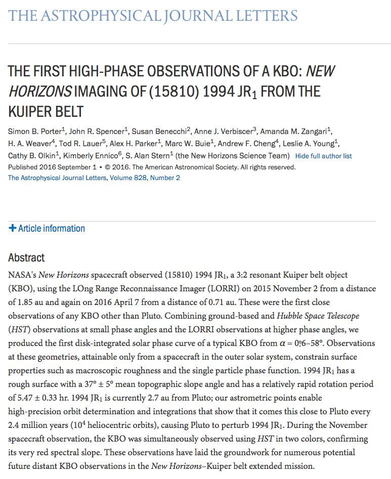 pluto research paper Pluto, once considered the ninth and most distant planet from the sun, is now the largest known dwarf planet in the solar system  research & exploration nasa's new horizons mission is the.