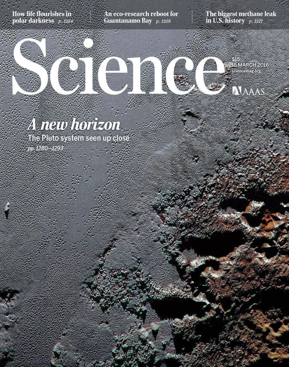 science journal magazine pluto horizons march aaas geology eyes mission scientific proposal pages sci far reports perspectives pi nature would